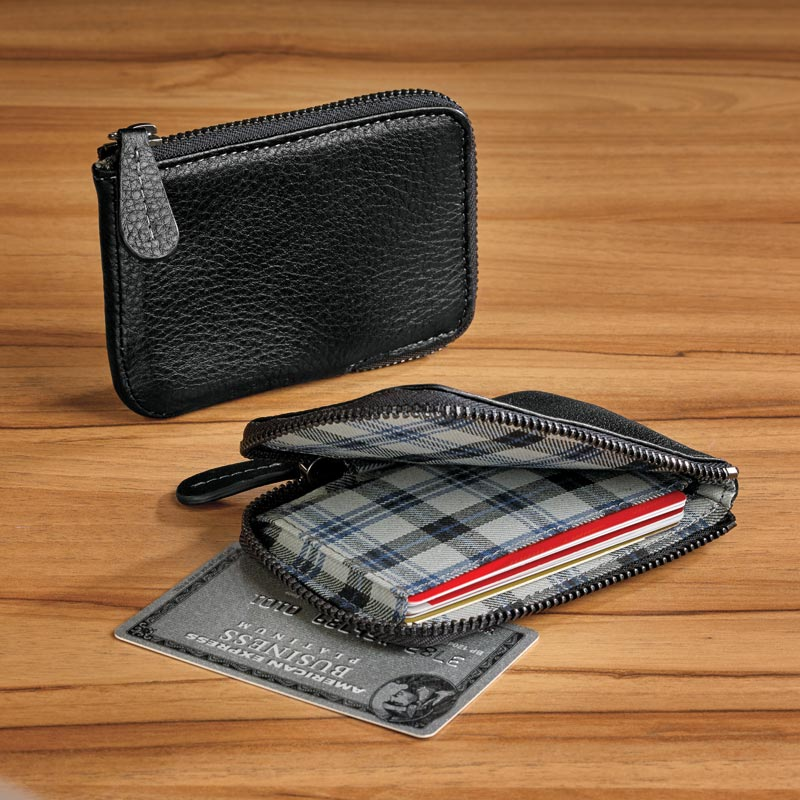Bomber Jacket Zip Card Wallet with RFID