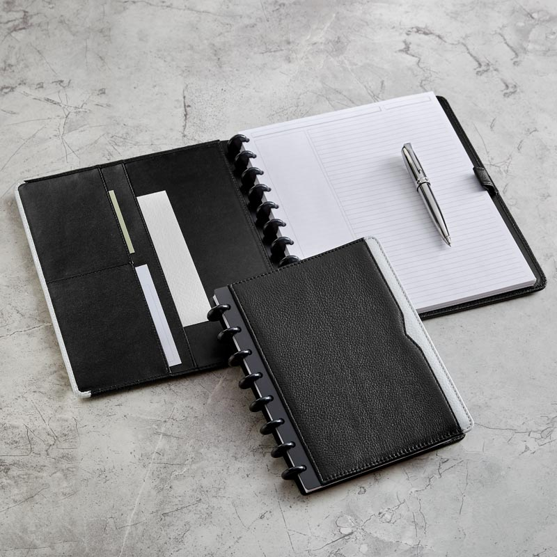 Circa® Classic Contrast Leather Foldover Notebook