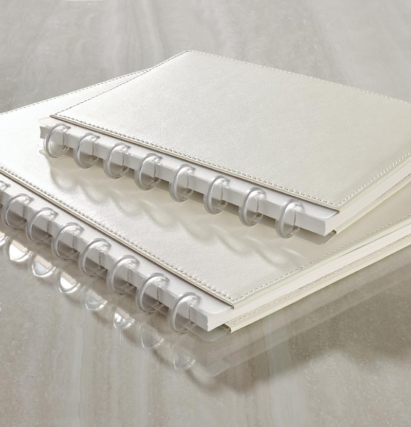 Circa® Pearl White Foldover Notebook