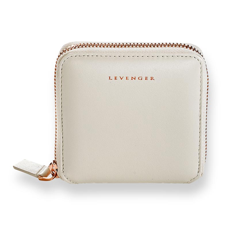 Carrie Coin and Card Wallet - Pearl White