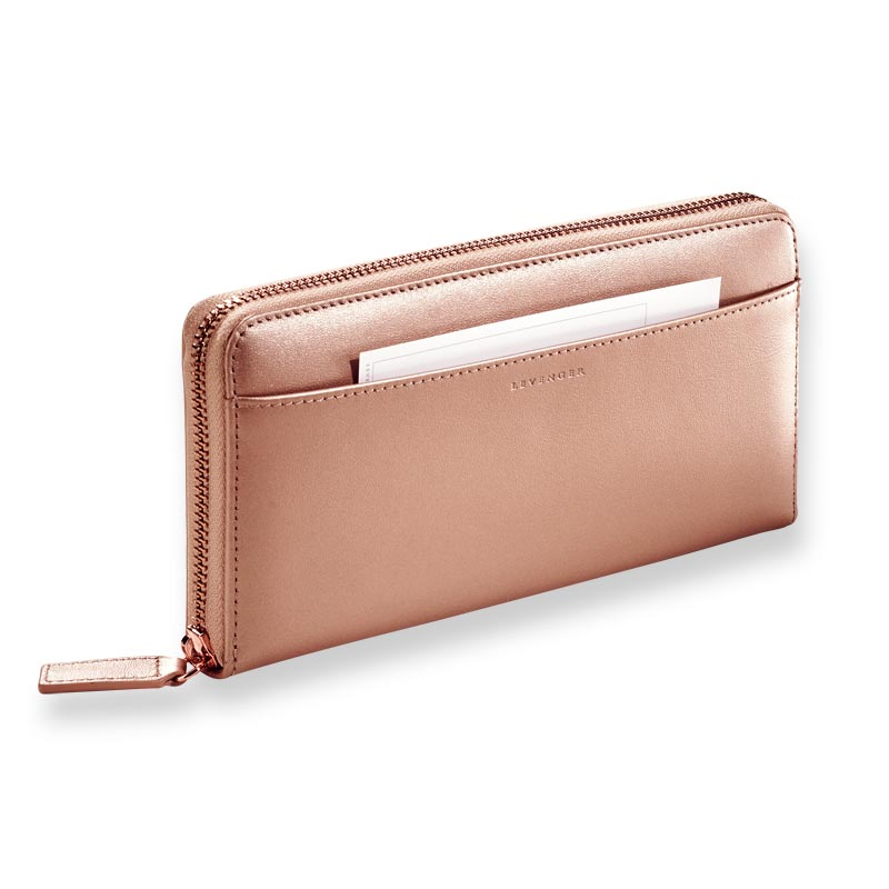 Rose Gold Accordion Wallet