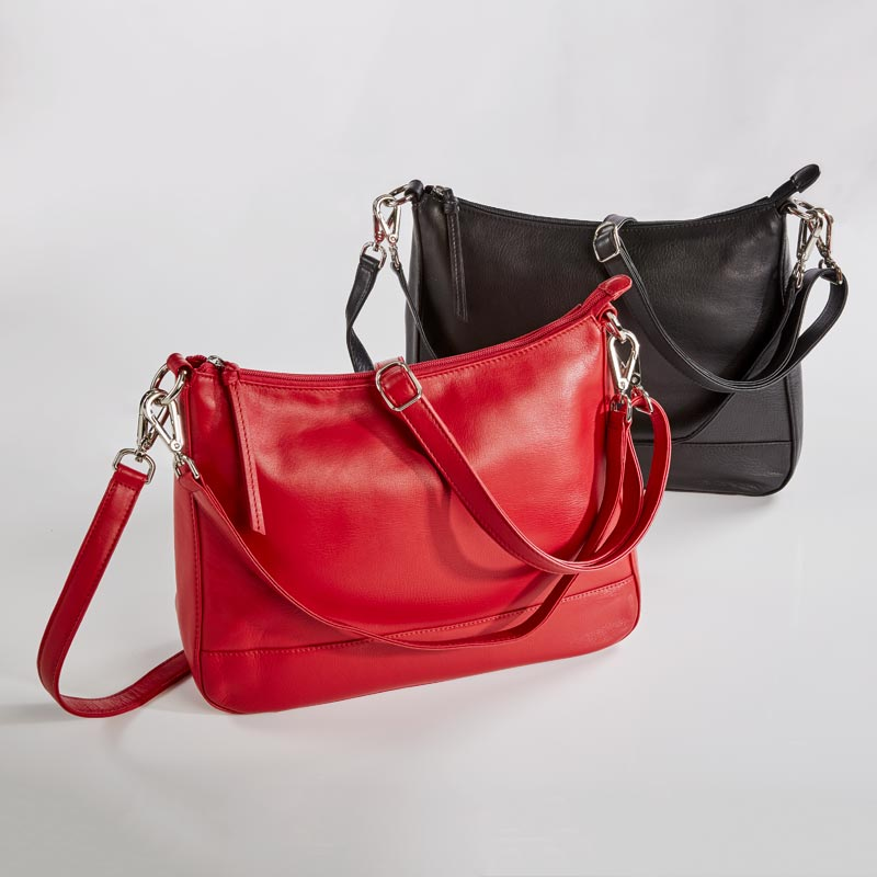 Sutton Leather Top Zip Hobo
