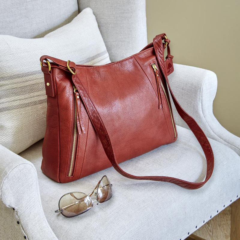 Alexa Triple-Zip Handbag