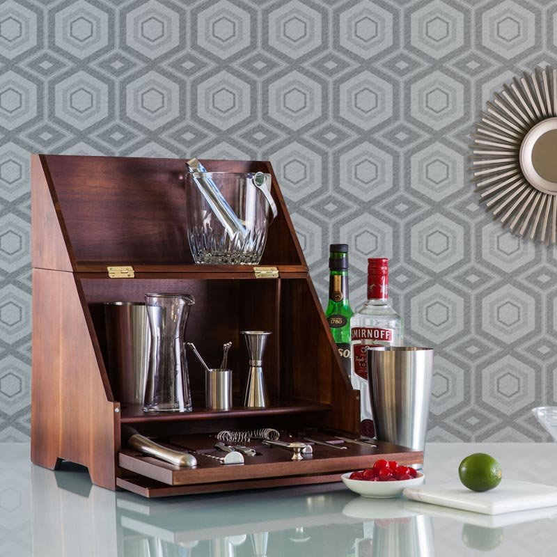 Acacia Wood Tabletop Bar