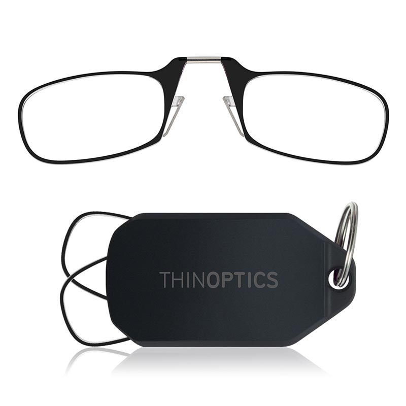 ThinOptics Readers and Black Keychain Case