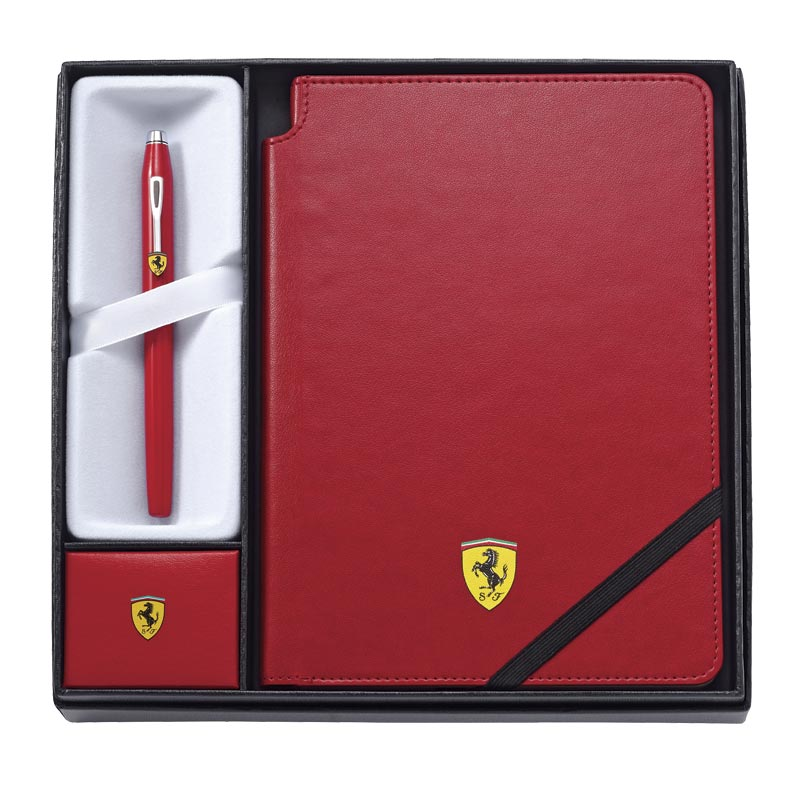 Cross Ferrari Century II Pen and Journal Rollerball Gift Set