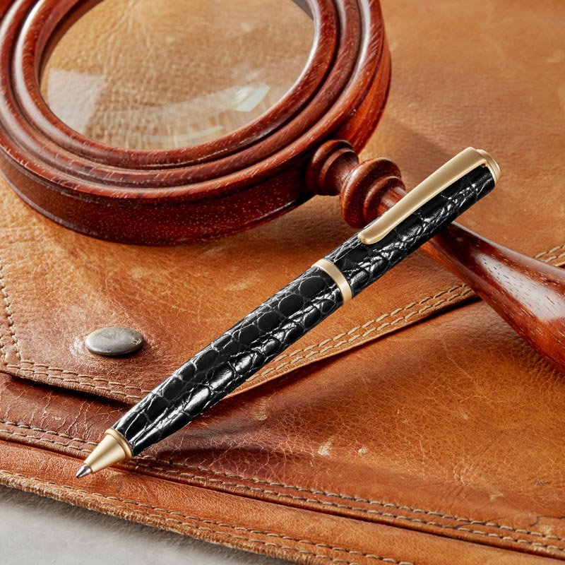 Hyde Park Croco Embossed Ballpoint Pen