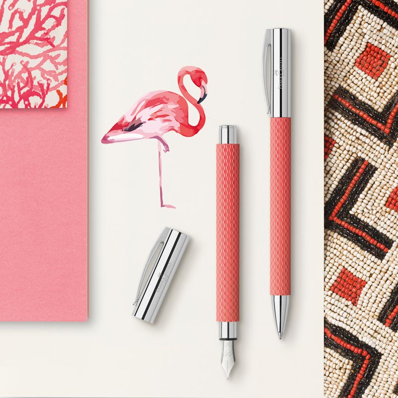 Faber-Castell Ambition OpArt Flamingo Fountain Pen
