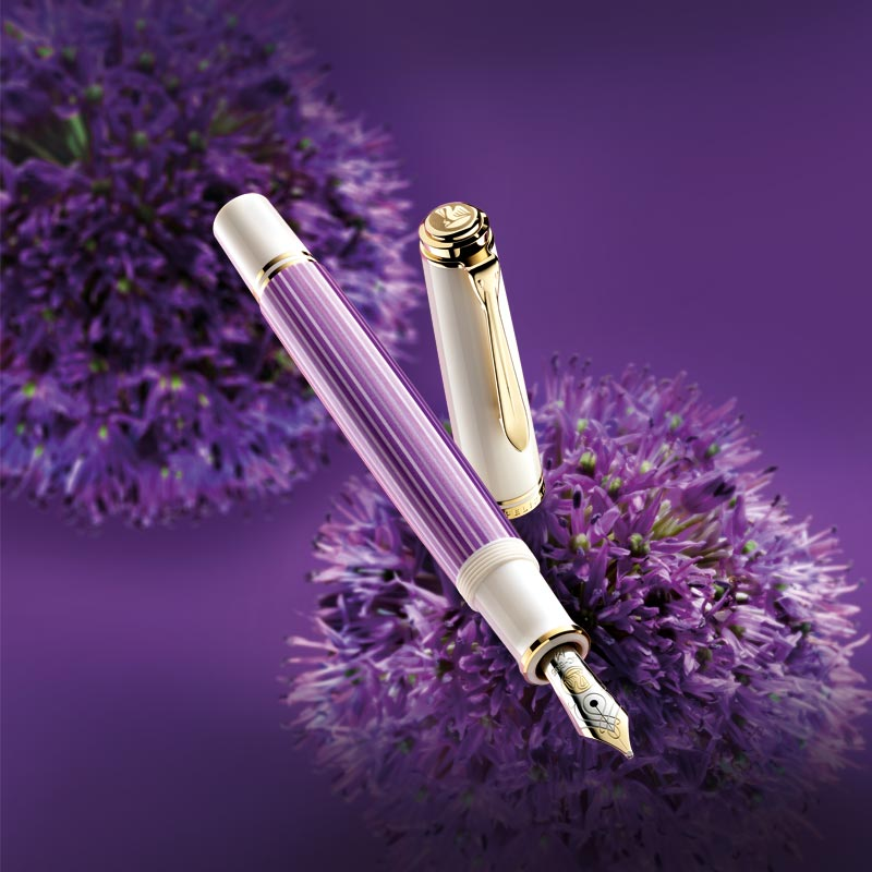 Pelikan Souveran M600 Violet-White Fountain Pen, Special Edition