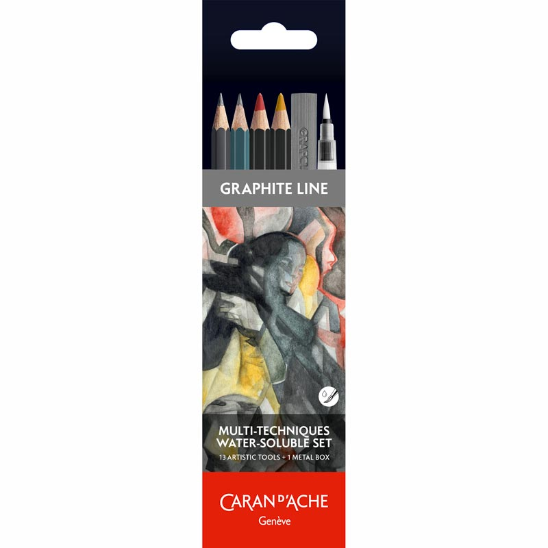 Caran D'Ache Multi-Techniques Water-soluble Pencil Set