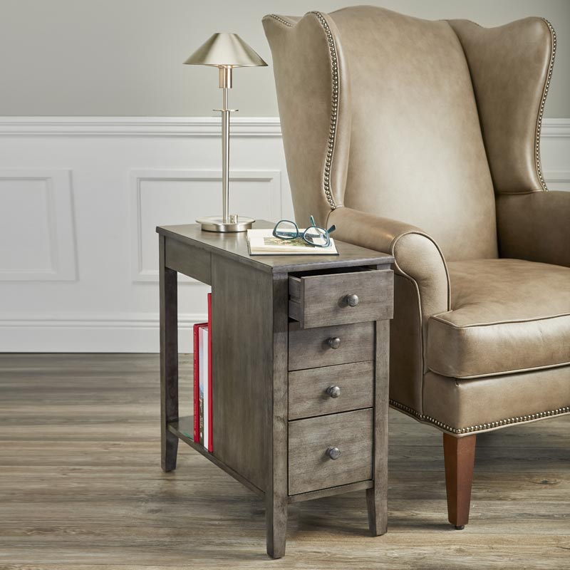 No-Room-for-a-Table Table™ With Drawers Grey
