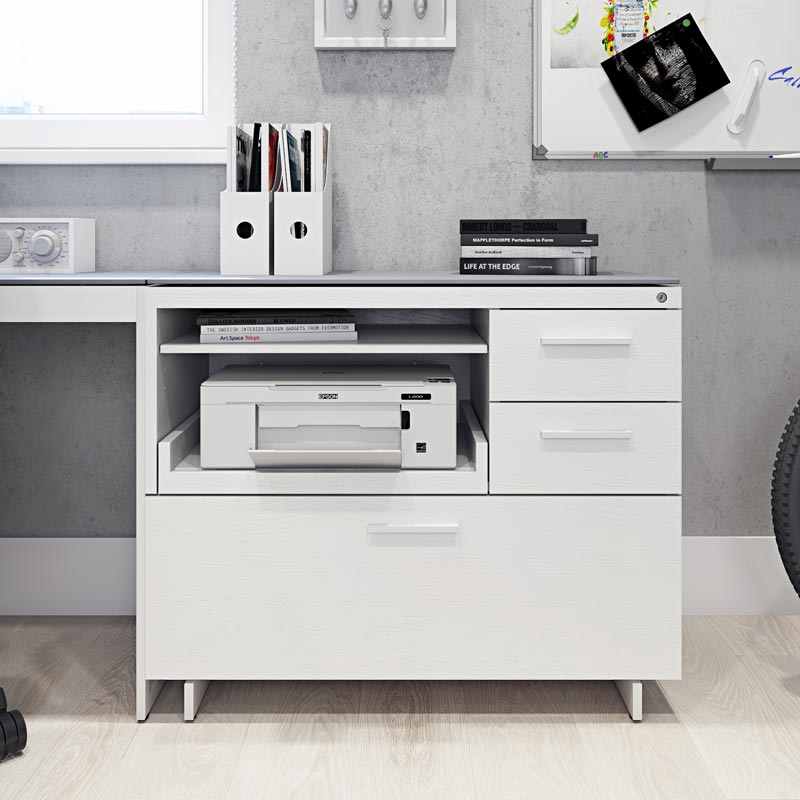 Centro Multi-Function Cabinet  - White