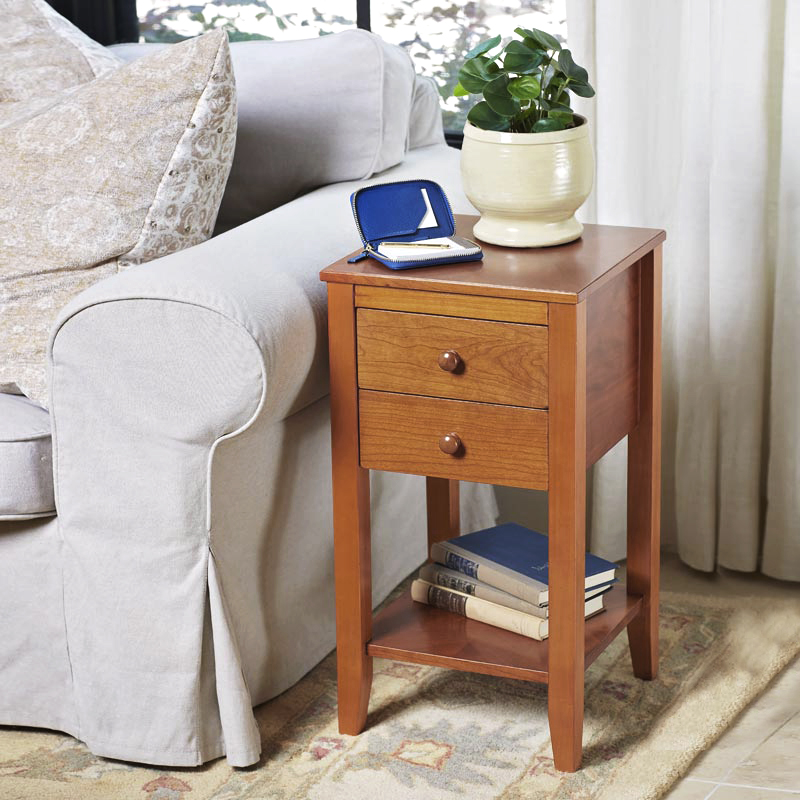 No-Room-for-a-Table Petite Table with Drawers