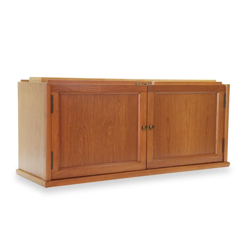 Barrister Hinged Double Door Section - Natural Cherry