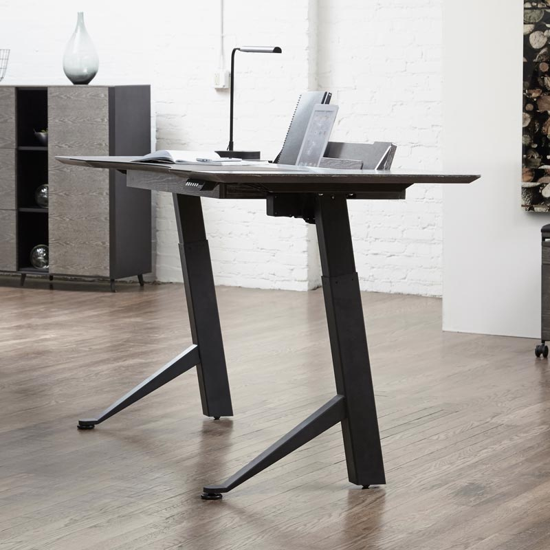 Executive Electric Desk with Holder 63""