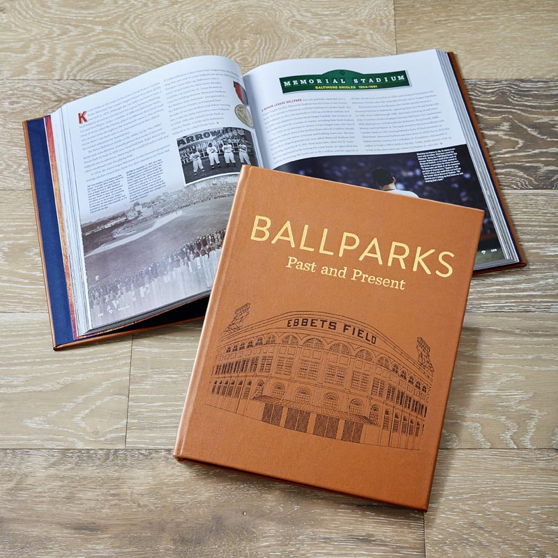 Leather Ballparks Past and Present Book