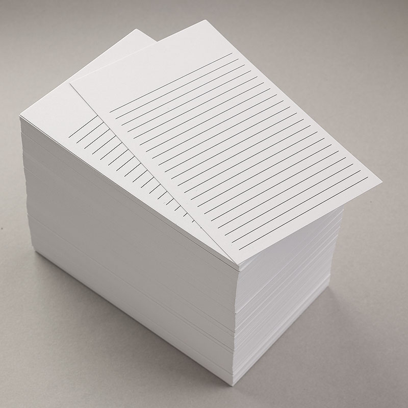 300 Nonpersonalized 3x5 Cards (White Ruled)