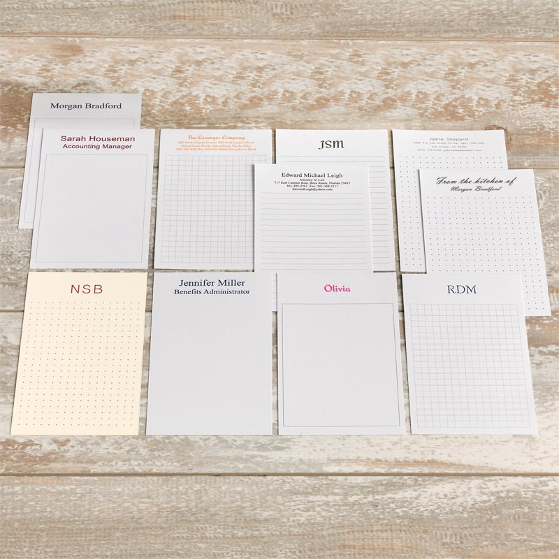 100 Personalized 3 x 5 Cards, Vertical