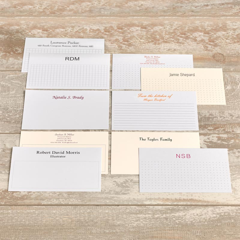 250 Personalized 3 x 5 Cards, Horizontal