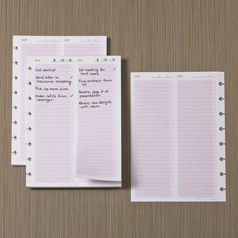 Circa smartPlanner Take With Lists (Set of 2)