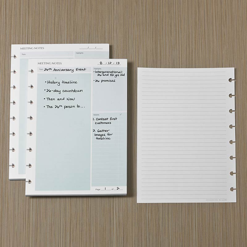 Circa smartPlanner Meeting Notes (Set of 2)