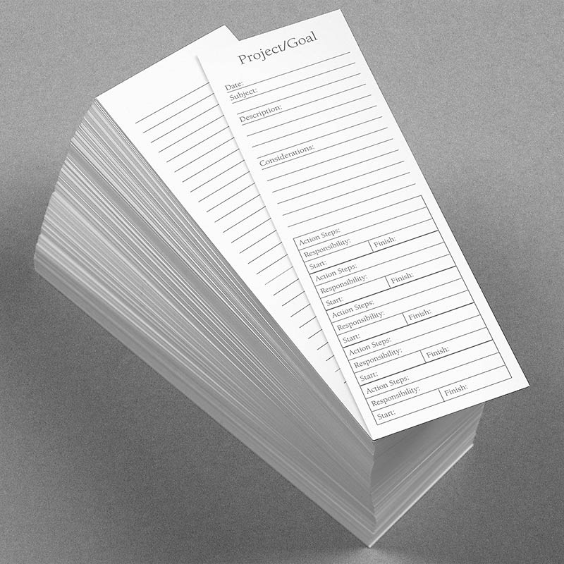 Special Request™ Project Planner Bookmark Cards