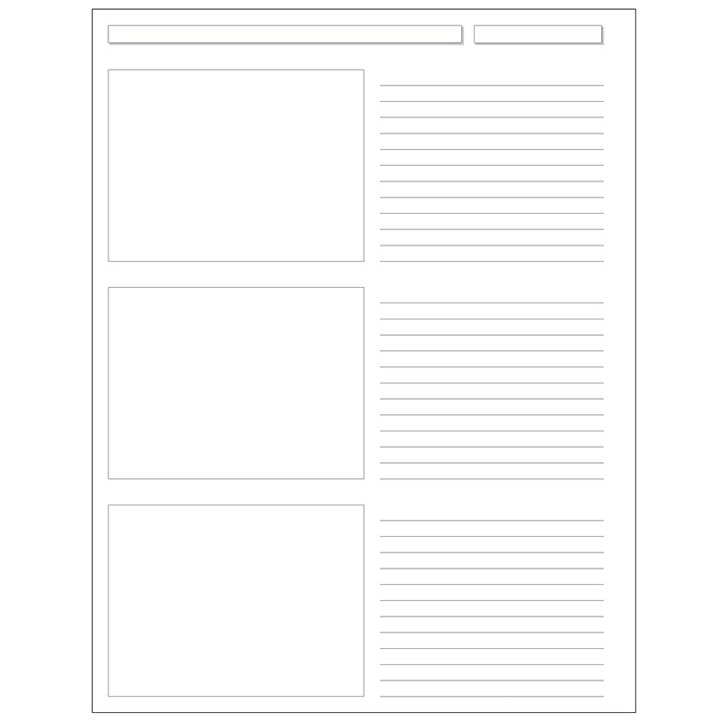 Special Request™ Storyboard (100 sheets), Unpunched, Letter