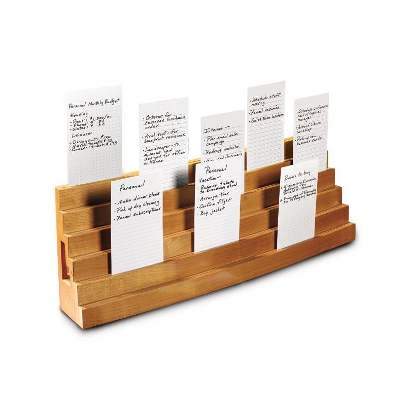 Note Card Bleachers - Index Card Organizer, 3 x 5 Card Organizer - Levenger