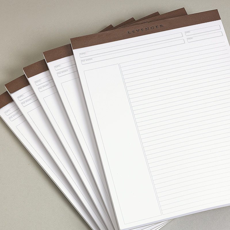 Freeleaf Recycled White Annotation Ruled Pads, Letter