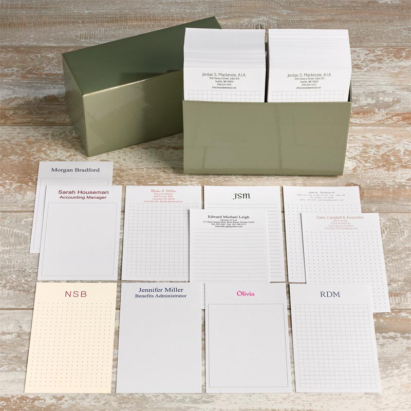 1,000 Personalized 3 x 5 Cards - Vertical