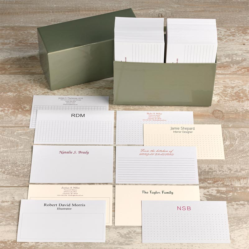 500 Personalized 3 x 5 Cards - Horizontal