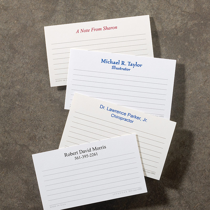 250 Personalized Wallet Cards - Horizontal