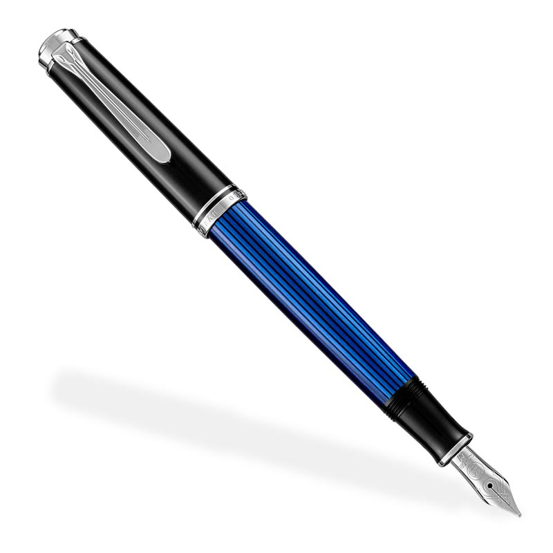 Pelikan Souverän 405 Blue/Black Fountain Pen (F, M)
