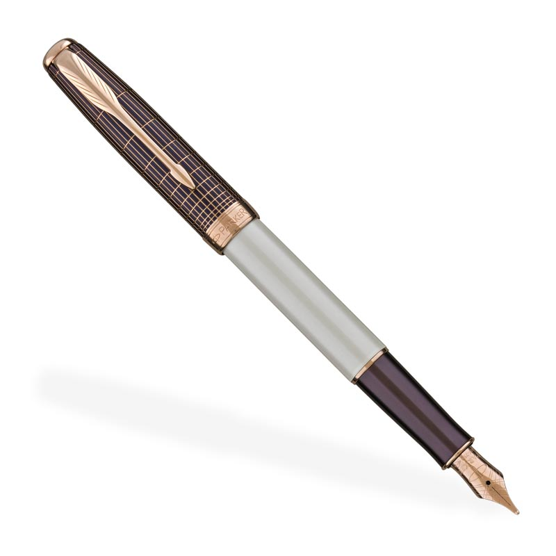 Parker Sonnet Contort Purple Cisele Fountain Pen