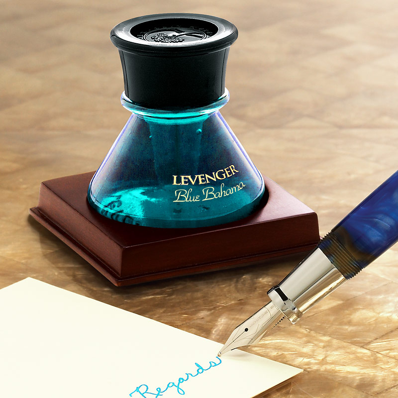 Blue Bahama Levenger Bottled Ink