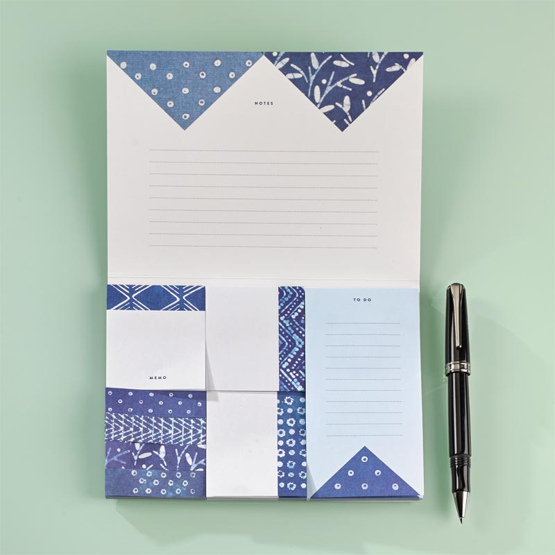 Indigo Sticky Notes (set of 8)