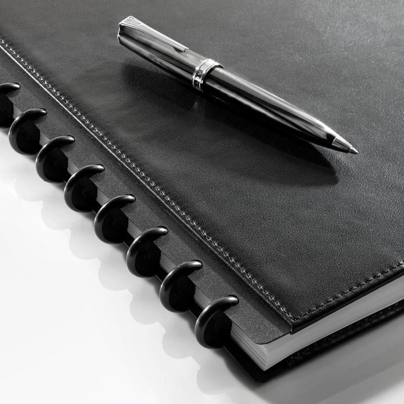 Circa® Universal Leather Foldover Notebook