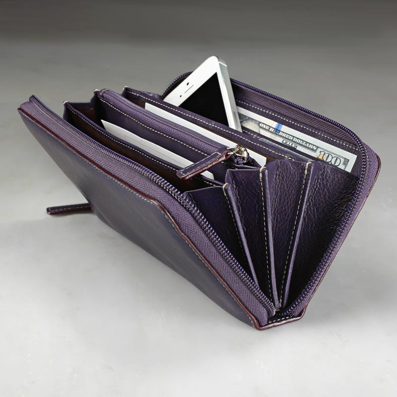 Accordion Wallet, Grape