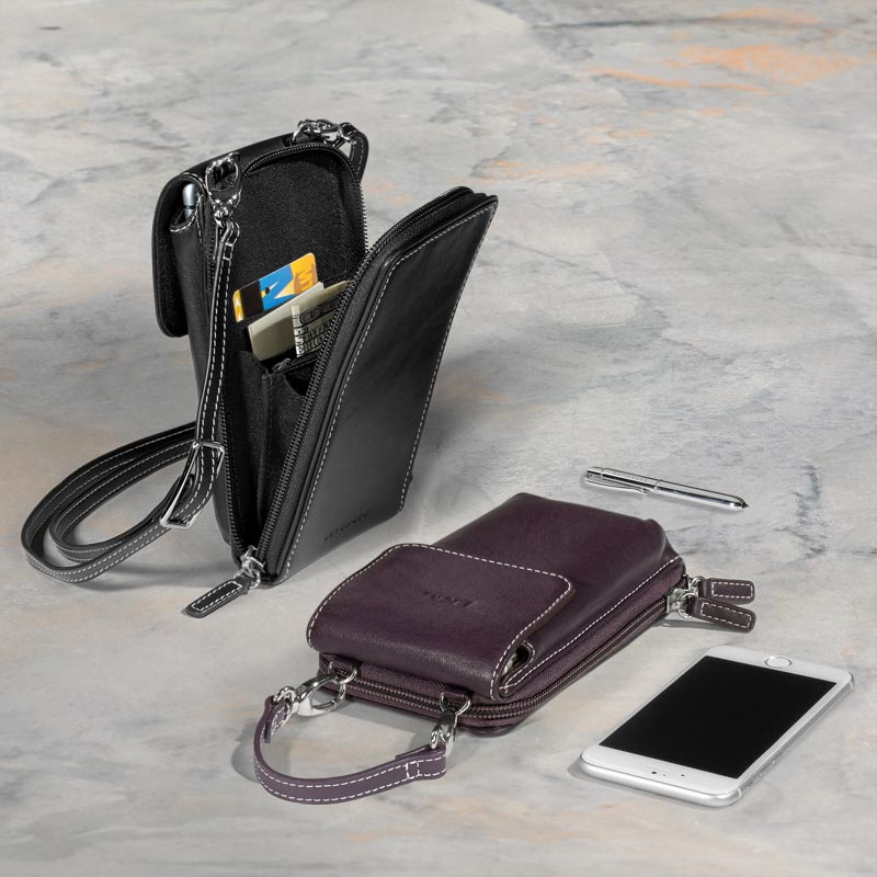 Carezza Two-Strap Smart Phone Case with Walletini Pen